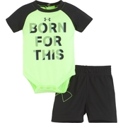 Under Armour Infant Boys Born For This Bodysuit and Shorts 2 pc. Set