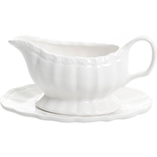 Gibson Home Cafe Posh Gravy Boat with Saucer