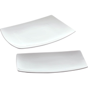 Gibson Home Gracious Dining 2 pc. Platter Set