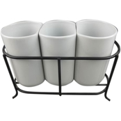 Gibson Home Elite Gracious Dining 3 pc. Utensil Holder with Wire Rack