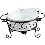 Gibson Home Noble Heritage 1.5 qt. Bake Dish with Wire Warmer Rack