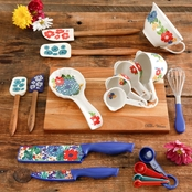 Pioneer Woman Dazzling Dahlias 20 pc. Kitchen Tool Set