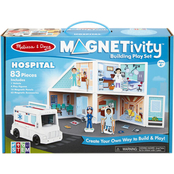 Magnetivity Hospital Building Play Set