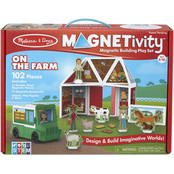 Magnetivity On the Farm Building Play Set