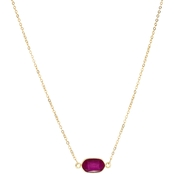 Panacea Mini Horizontal Pendant Necklace 16 in.