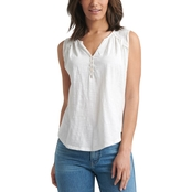 Lucky Brand Henley Top with Applique