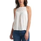 Lucky Brand Mix Media High Neck Halter Top
