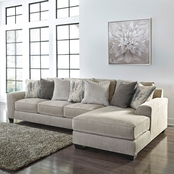 Benchcraft Ardsley Sofa and RAF Chaise 2 pc. Set