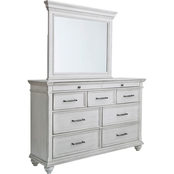 Benchcraft Kanwyn 9 Drawer Dresser and Mirror Set