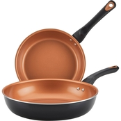 Farberware 9.25 in. and 11.25 in. Open Skillets Twin Pack