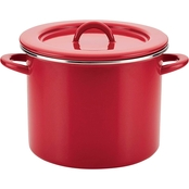 Rachael Ray 12 qt. Covered Stockpot, Red Shimmer