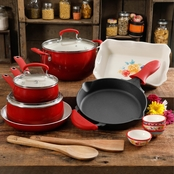 Pioneer Woman Fiona Floral 17 pc. Cookware Combo Set