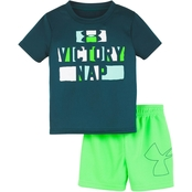 Under Armour Infant Boys Victory Nap Bodysuit and Shorts Set