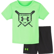 Under Armour Infant Boys Baseball Squad Tee and Shorts Set
