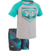 Under Armour Infant Boys Electric Field Baseball Set