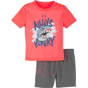 Under Armour Infant Boys Always Hungry Shirt and Shorts Set