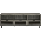 Walker Edison 70 in. Modern TV Stand with Slatted Drawers