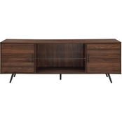 Walker Edison 70 in. Mid Century Modern TV Stand with Glass Shelf