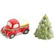 Gibson Home Sleigh Ride Truck Salt and Pepper