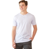 Alpha Beta Stripe Henley Tee