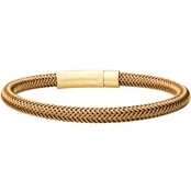 INOX Gold Over Stainless Steel Wire Mesh Bracelet