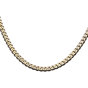 INOX Stainless Steel Yellow Goldtone Curb Chain 22 in.