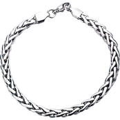 INOX Stainless Steel 8.5 in. Wheat Bracelet
