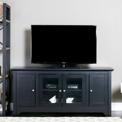 Walker Edison 52 in. Wood TV Stand with Glass Doors