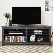 Walker Edison 58 in. Open Storage Wood TV Stand