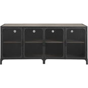 Walker Edison 60 in. Industrial TV Stand with Metal Mesh Doors