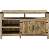 Walker Edison 58 in. Modern Farmhouse Highboy Barn Door TV Stand