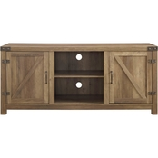 Walker Edison 58 in. Modern Farmhouse Barn Door TV Stand