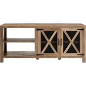 Walker Edison 58 in. Industrial Farmhouse X Door TV Stand