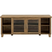 Walker Edison 58 in. Rustic Modern TV Stand Storage Console