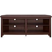 Walker Edison 58 in. Open Storage Wood Corner TV Stand