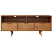 Walker Edison 58 in. Mid Century Modern 3 Drawer Solid Wood TV Stand