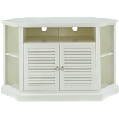 Walker Edison 52 in. Corner TV Stand with Louvered Doors