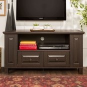 Walker Edison 44 in. Traditional Wood TV Stand with Side Storage