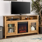 Walker Edison 58 in. Highboy Electric Fireplace TV Stand
