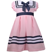 Bonnie Jean Little Girls Square Collar Nautical Dress
