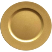 Gibson Home Matte Gold 13 in. Charger Plate