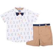Little Lads Infant Boys Cactus 3 pc. Creeper Set