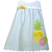 Bonnie Jean Toddler Girls Striped Pineapple Seersucker Dress