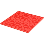 Lodge Silicone Trivet with Skillet Pattern, Red