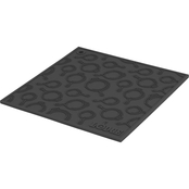 Lodge Silicone Trivet with Skillet Pattern, Black
