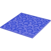 Lodge Silicone Trivet with Skillet Pattern, Blue