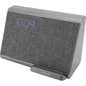 iHome Bluetooth Dual Alarm Clock with Speakerphone and Wireless Charging