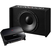 Kenwood 12 in. Sealed Bass Package with Subwoofer, Amp and Enclosure