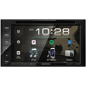 Kenwood 6.2 in. Double-DIN In-Dash DVD Receiver with Bluetooth and SiriusXM Ready