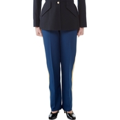 Army Officer and Senior Enlisted Women's Blue Slacks with Gold Braid (ASU)